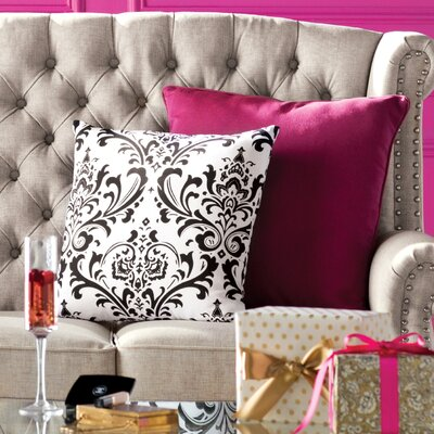 Burlington 100% Cotton Throw Pillow Color: Black / White, Size: 18x18