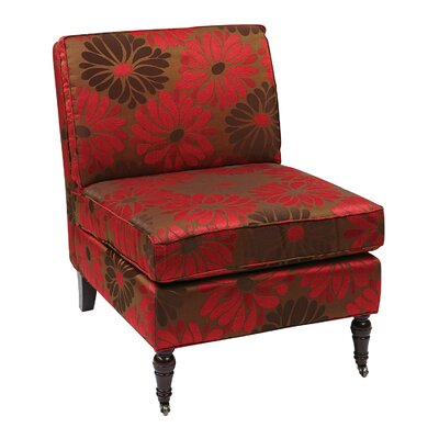 Rosemead Guest Chair Seat Color: Groovy Red