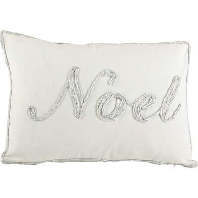 Cotton Throw Pillow Color: Silver