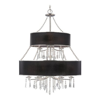 Abel 9-Light Drum Chandelier Shade: Tuxedo