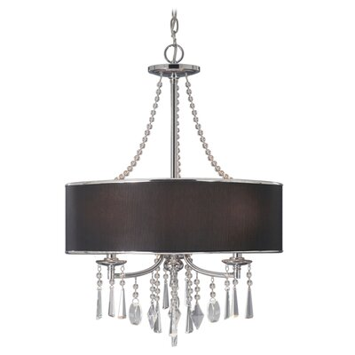Abel 3-Light Drum Chandelier Shade: Tuxedo