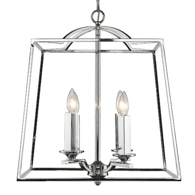 Senter 4-Light Steel Foyer Pendant