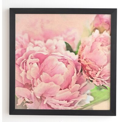 'Pink Peonies' by Lisa Argyropoulos Framed Graphic Art
