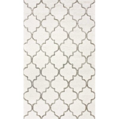 Noirmont Hand-Woven Cream Area Rug Rug Size: 2' x 3'