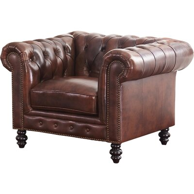 Tunbridge Wells Club Chair Upholstery: Brown