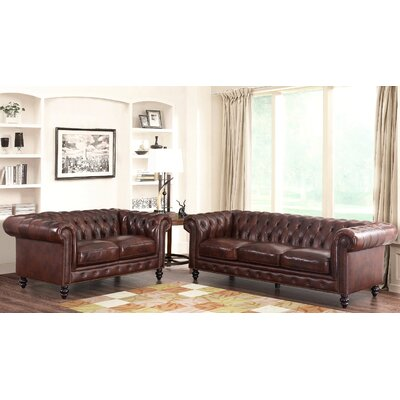 Tunbridge Wells Top Grain Leather Sofa and Loveseat Set