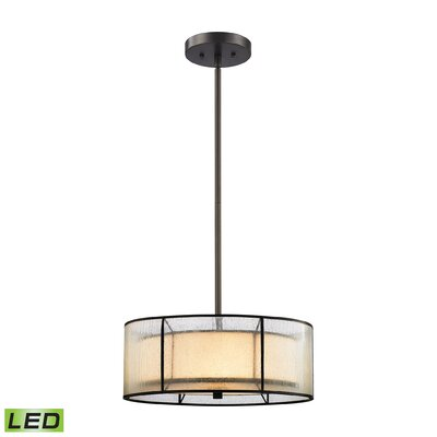 Griffith 3-Light Drum Chandelier Bulb Type: 9.5W LED