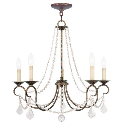 Devana 5-Light Candle-Style Chandelier Finish: Venetian Golden Bronze
