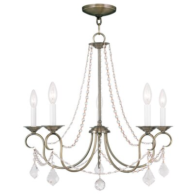 Devana 5-Light Candle-Style Chandelier Finish: Antique Brass