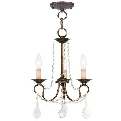 Uttoxeter 3-Light Crystal Chandelier Finish: Venetian Golden Bronze