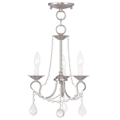 Devana 3-Light Crystal Chandelier Finish: Brushed Nickel