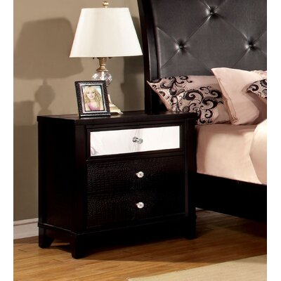 Rogers 3 Drawer Nightstand