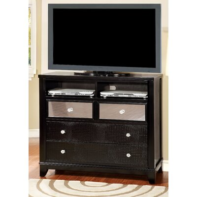 Rogers 4 Drawer Wood Media Chest