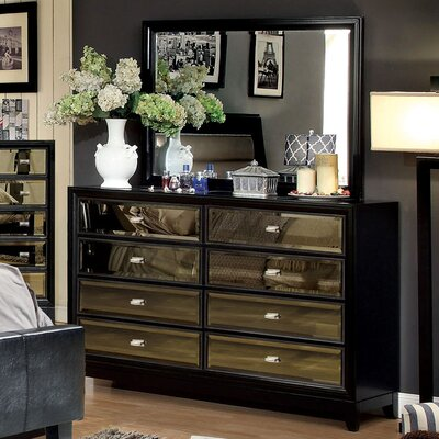 Byzantium 8 Drawer Dresser with Mirror