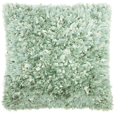 Dahlia Shag Throw Pillow Color: Celadon