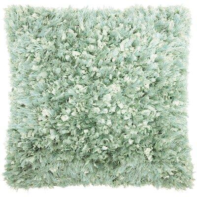 Dahlia Shag Throw Pillow Color: Celadon