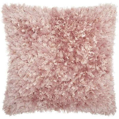 Dahlia Shag Throw Pillow Color: Rose