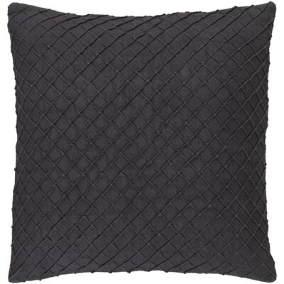 Warwick 100% Linen Throw Pillow Cover Size: 22 H x 22 W x 0.25 D, Color: Charcoal