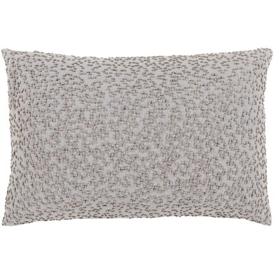Oliver Linen Lumbar Pillow Cover Color: GrayTaupe