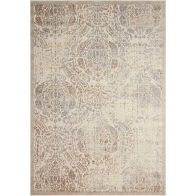 Christena Ivory Area Rug Rug Size: Rectangle 53 x 75