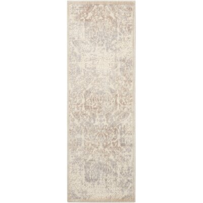 Christena Ivory/Gray Area Rug Rug Size: 2 x 59