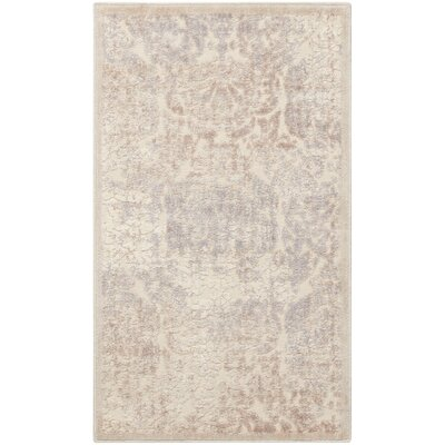 Christena Ivory/Gray Area Rug Rug Size: 23 x 39
