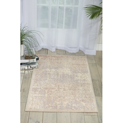 Christena Ivory Area Rug Rug Size: Rectangle 23 x 39