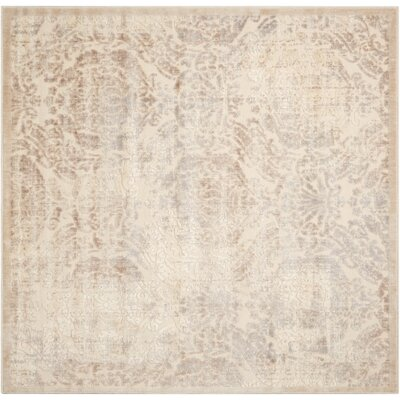 Christena Ivory/Gray Area Rug Rug Size: Square 67