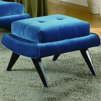 Guillermo Ottoman Upholstery: Cerulean Blue