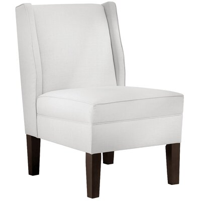 Thisnes Cotton Wing back Side Chair Color: White