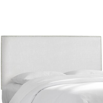Godfrey Upholstered Panel Headboard Size: Twin, Upholstery: White