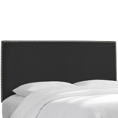 Godfrey Upholstered Panel Headboard Size: Queen, Upholstery: Black