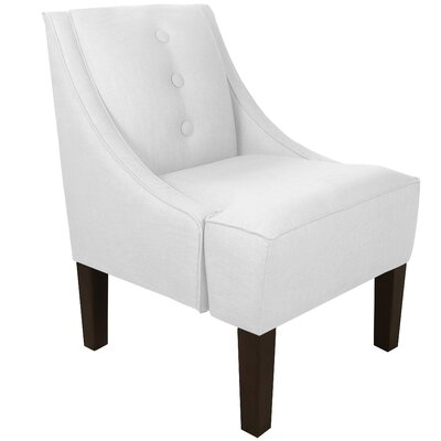 Moorcroft Swoop Armchair Upholstery: Twill White