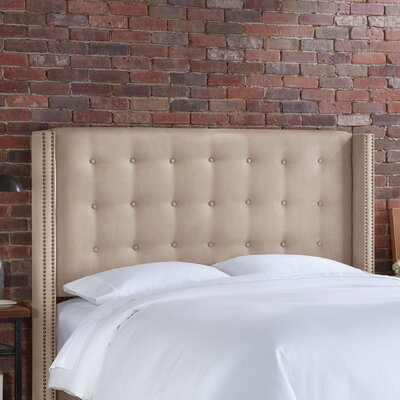 Doleman Upholstered Wingback Headboard Size: California King, Upholstery: Oatmeal