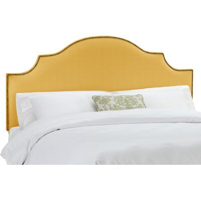 Rosecrans Linen Upholstered Panel Headboard Size: California King, Upholstery: French Yellow