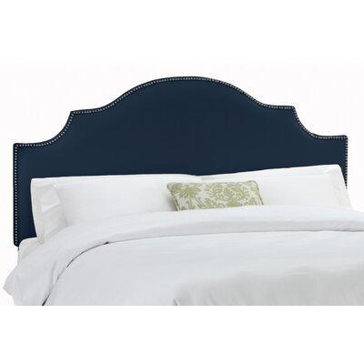 Rosecrans Linen Upholstered Panel Headboard Size: Queen, Upholstery: Navy