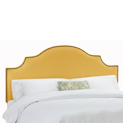 Amesbury Linen Upholstered Panel Headboard Size: King, Upholstery: French Yellow