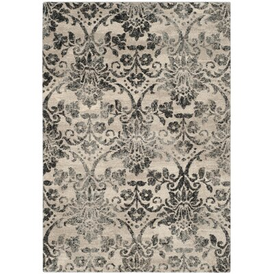 Troisi Cream/Gray Area Rug Rug Size: Rectangle 4 x 6