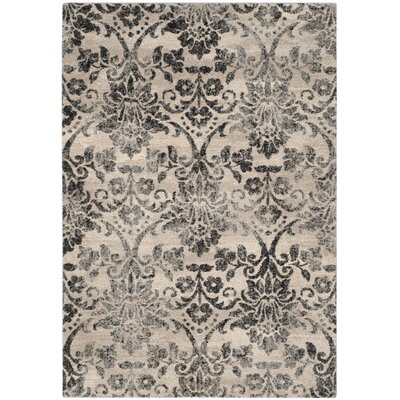 Troisi Cream/Gray Area Rug Rug Size: 4 x 6