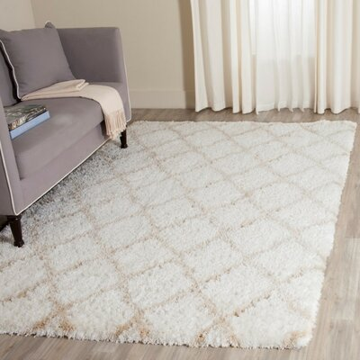 Rivers Ivory/Light Beige Area Rug Rug Size: Rectangle 51 x 76