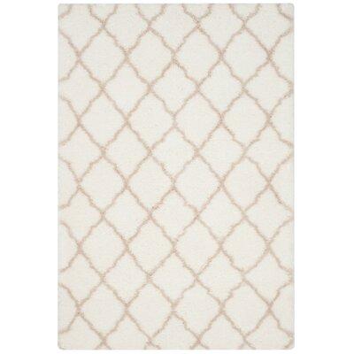 Trotti Ivory/Mushroom Area Rug Rug Size: 51 x 76
