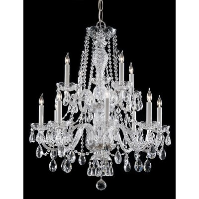 Valdes 12-Light Crystal Chandelier