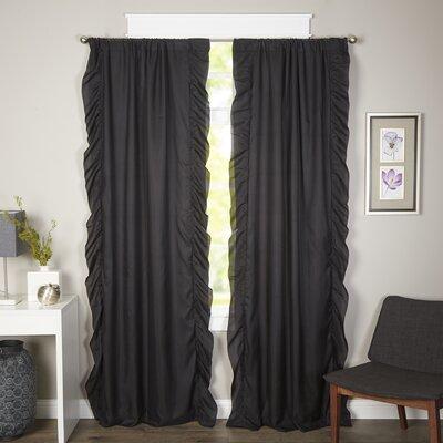 Wisbech Blackout Curtain Panels Color: Black