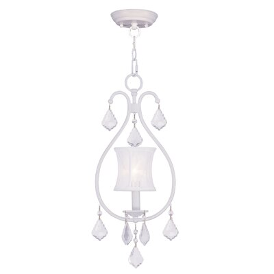 Aron 1-Light Convertible Mini Pendant Finish: White