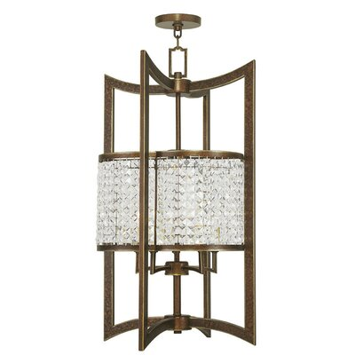 Wetzel 5-Light Semi Flush Mount Finish: Hand Painted Palacial Bronze