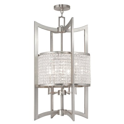 Wetzel 5-Light Semi Flush Mount Finish: Brushed Nickel