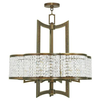 Rickmansworth 6-Light Crystal Chandelier Finish: Hand Painted Palacial Bronze