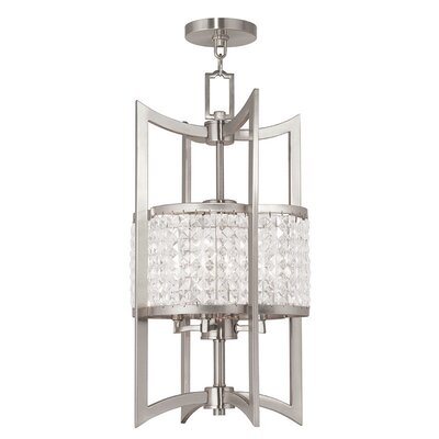 Wetzel 4-Light Semi Flush Mount Size: 24