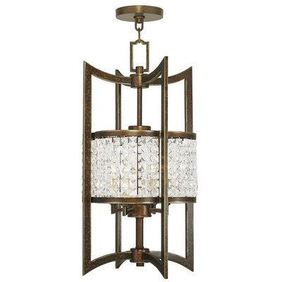 Wetzel 4-Light Semi Flush Mount Size: 24 H, Finish: Hand Painted Palacial Bronze