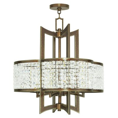 Wetzel 4-Light Crystal Chandelier Finish: Hand Painted Palacial Bronze